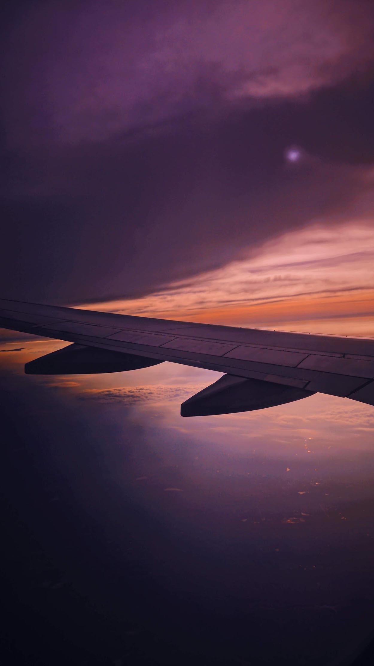 Wing of a plane from the window, Mexico